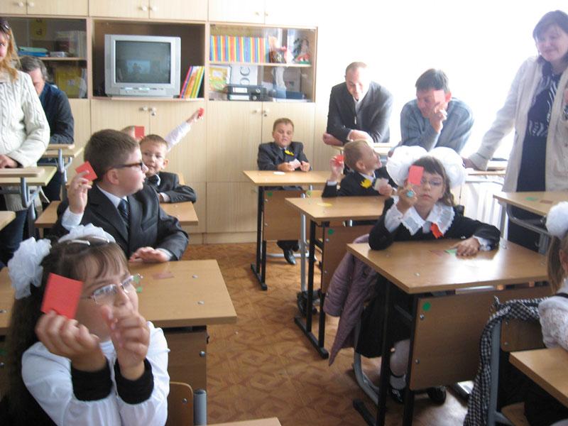 Первый урок в школе-интернате