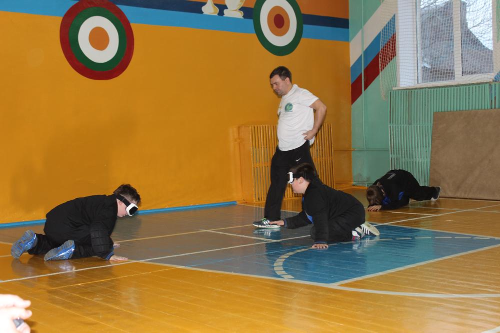 Внутришкольные соревнования по голболу (спорт слепых)