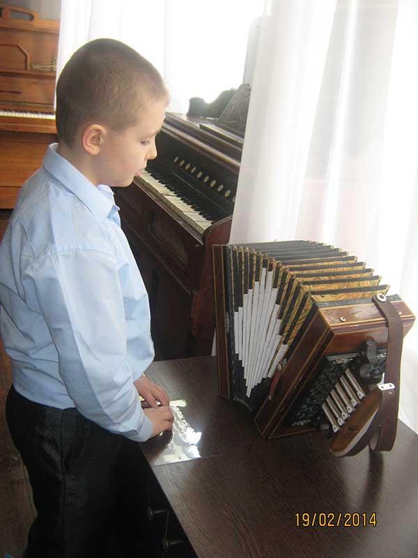 Посещение выставки «Слепой музыкант»
