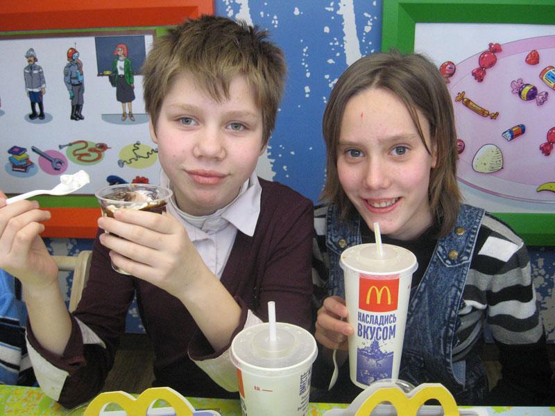 В «Макдоналдсе»