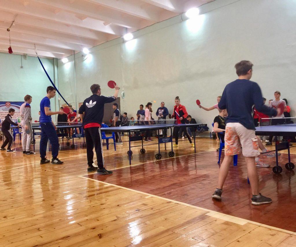 Областные соревнования по настольному теннису