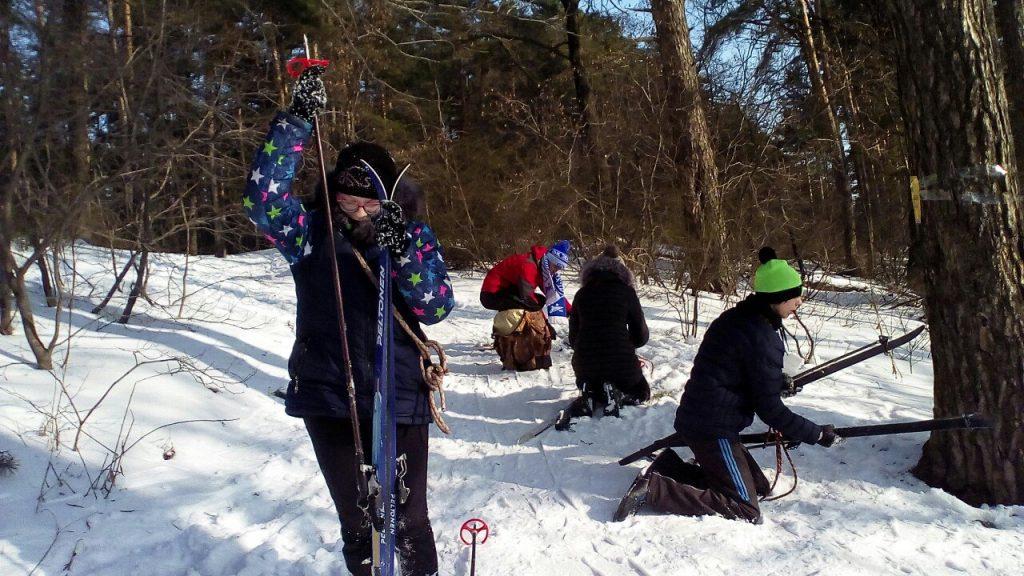 Областные соревнования по лыжному туризму